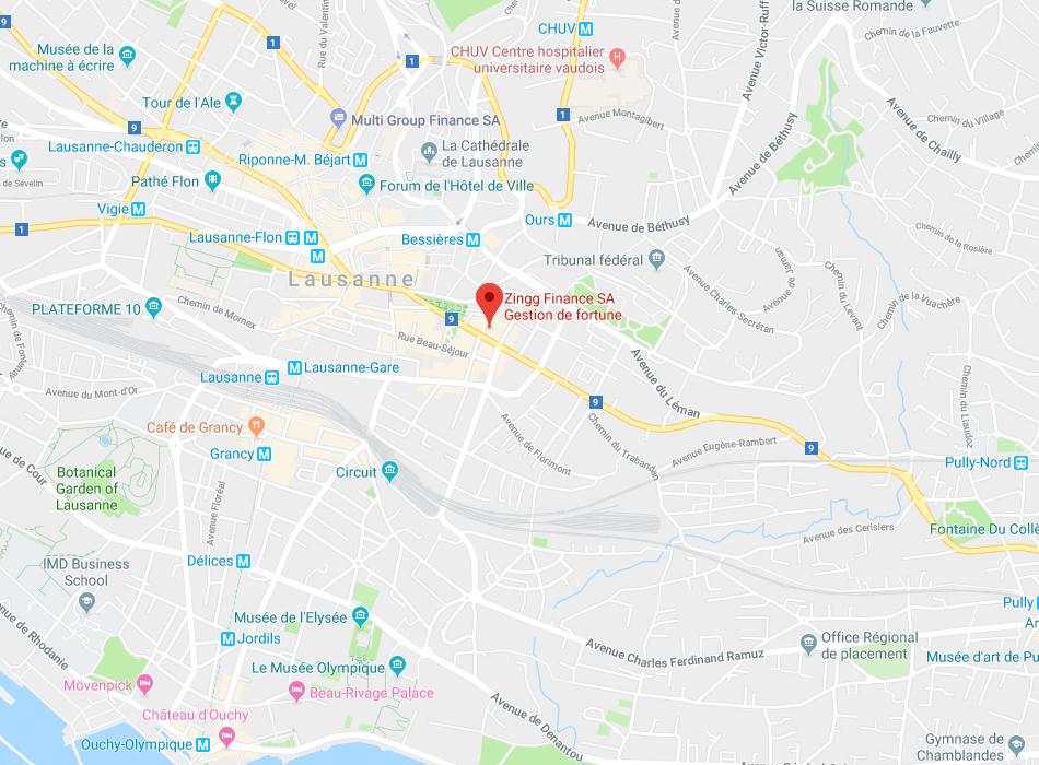 Zingg finance SA adresse lausanne
